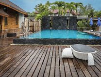 Pool in the resort Royalty Free Stock Photography