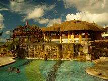 Pool in resort, Mauritius Stock Image