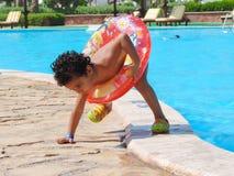 Boy at pool. Pool resorts at Sharm El Shiekh , Red Sea  Egypt Stock Photos
