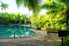 Pool of ressort  in Thailand Royalty Free Stock Images