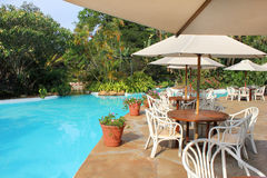 Pool Restaurant in Nairobi Royalty Free Stock Image