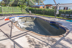 Pool resurfacing and gray cement bond coat Stock Images
