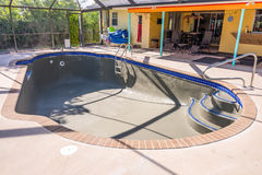 Pool resurfacing and gray cement bond coat Stock Image