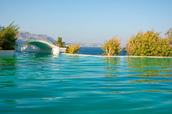 Pool on Rhodes island, Greece. Stock Photos