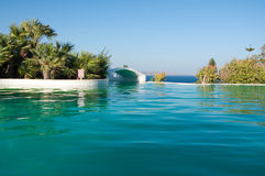 Pool on Rhodes island, Greece. Royalty Free Stock Photography
