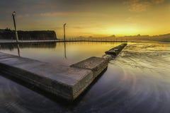 pool rocken Fotografering för Bildbyråer