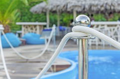 Pool rod and blurred background pool and bar house Stock Photos