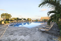 Pool on rooftop of hotel. Pool on rooftop of NH Parque Central. Havana. Cuba Royalty Free Stock Photography