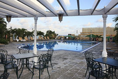 Pool on rooftop of hotel. Pool on rooftop of NH Parque Central. Havana. Cuba Stock Photos