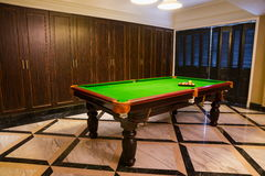 Pool room Royalty Free Stock Photo