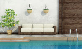 Pool in rustic style Stock Photos