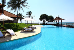 Pool, Saman Villas Royalty Free Stock Photos
