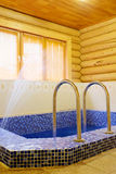 pool in the sauna Royalty Free Stock Images
