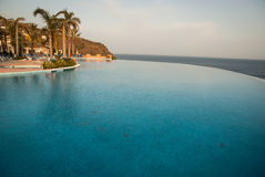 Pool and the sea, Andalusia, Spain Royalty Free Stock Photo
