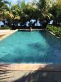 Pool on the sea royalty free stock photos