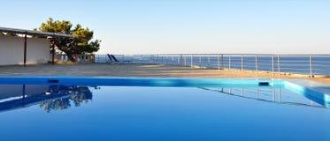 Pool and sea Stock Image