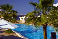 Pool and sea scenic stock photo