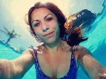 Pool selfie Stock Afbeelding
