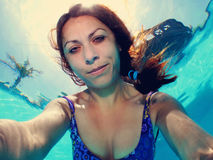 Pool selfie Stock Image