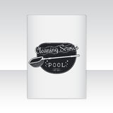 Pool Service. Clean and Repair. Label or card Royalty Free Stock Photography
