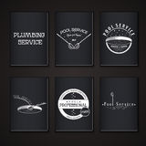 Pool Service. Clean and Repair. Set of Typographic Stock Images