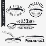 Pool Service. Clean and Repair. Set of Typographic Royalty Free Stock Photo
