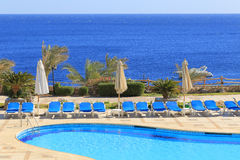 Pool in Sharm El Sheikh Royalty Free Stock Photography