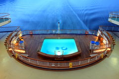 Pool on the ship Royalty Free Stock Images