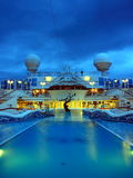 Pool on the ship at night. Heted pool on the cruise ship at night Royalty Free Stock Photos