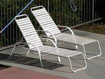 Pool Side Chairs. Picture from two pool side chairs royalty free stock photography