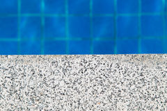 Pool side with copy space for product or text message Royalty Free Stock Images