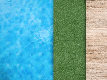Pool side with green grass Royalty Free Stock Photo