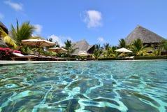 Pool side water swimming. Beautiful pool at a resort stock photos