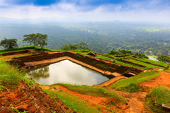 Pool in Sigiriya. Sri Lanka Stock Photos