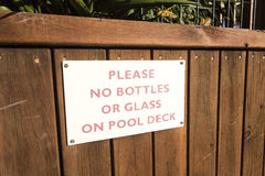 Pool Sign Royalty Free Stock Images