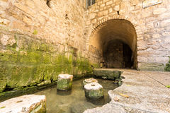 Pool of Siloam, Jerusalem, Israel. Historic pool of Siloam where Hezekiah's tunnel ends, Jerusalem, Israel royalty free stock images
