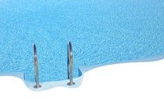 pool simning Arkivbild