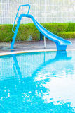 Pool slide Royalty Free Stock Photo