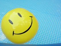 Pool Smiley Face Ball Stock Photo