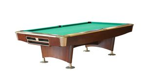 Pool or snooker table isolated Stock Photography