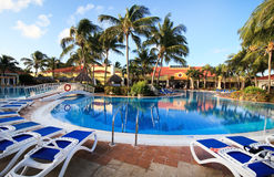 Pool in Sol Cayo Guillermo. Hotel. Cuba Royalty Free Stock Photos