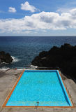 Pool at southern coastline of Madeira, Portugal Stock Photography
