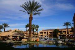 Pool and Southwestern style hotel Royalty Free Stock Image