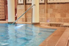 Pool in the Spa center Royalty Free Stock Photo