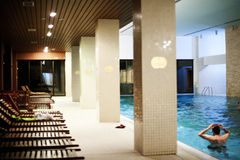 Pool in the spa center Stock Photos