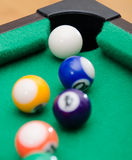 Pool-Spielbälle Lizenzfreies Stockbild