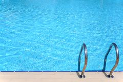 Pool with stair Royalty Free Stock Photos