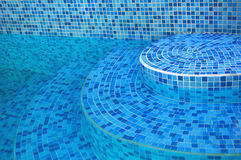 Pool Stairs. Stairs of Cool Blue Pool Royalty Free Stock Image