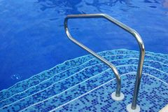 Pool stairs royalty free stock photography