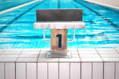 Pool start position background Royalty Free Stock Image